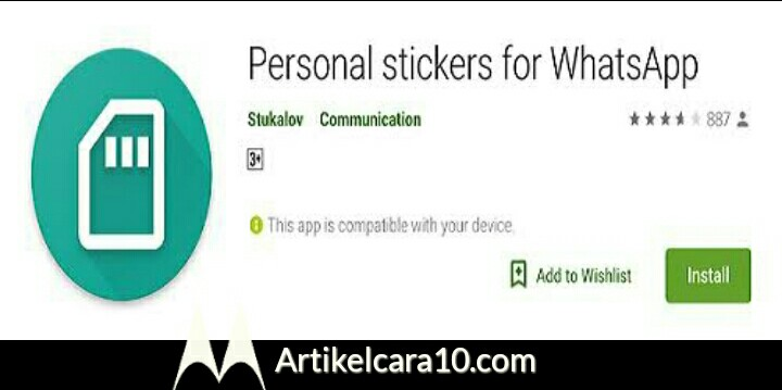 Aplikasi Personal Sticker For Android